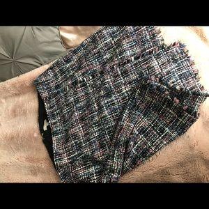 Loft multi color tweed skirts
